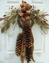 pine cone swag instructions - Google Search