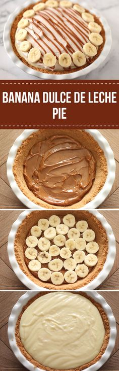 Banana Dulce de Leche Pie - Out of this world!!