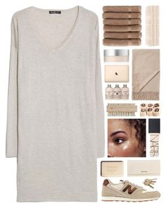 """""""flesh... [TOP SET]"""" by cinnamon-and-cocoa ❤ liked on Polyvore featuring MANGO, Linum Home Textiles, Monki, Superior, RMK, New Balance, HAY, NARS Cosmetics, Miu Miu and Chanel"""