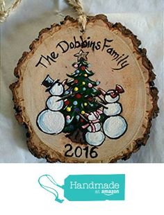 Hand Painted Personalized Snowman Family Christmas Ornament from Lucky Bee Designs https://www.amazon.com/dp/B01M4N5FF1/ref=hnd_sw_r_pi_dp_nDiwybHY9V7V1 #handmadeatamazon