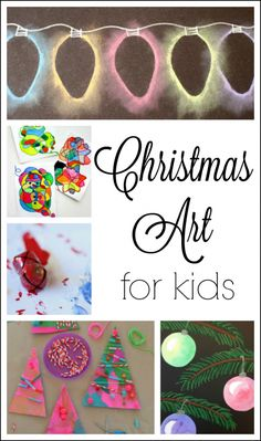 Christmas art for kids to make this holiday season! Gorgeous Christmas crafts and art projects for kids.