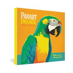 Anderson Design Group Parrot Palace Gallery Wrapped Canvas