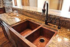 Hammered Copper Sink