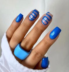 Simple Acrylic Nails, Summer Acrylic Nails, Acrylic Nail Designs, Nail Design Stiletto, Nail Design Glitter, Solid Color Nails, Nail Colors, Stylish Nails, Trendy Nails
