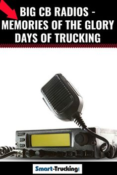 Big CB Radios - Memories of the Glory Days of Trucking. Where have the big CB radios gone from the trucking industry? Sadly, the CB is being replaced with more modern technology by today's trucker. Safe Driving Tips, Driving Jobs, Driving Safety, Truck Repair, Give Directions, Big Rig Trucks, Dashcam, Safety Tips, Big Boys