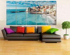 Coastal Town Photo Canvas Print   High Quality от GiftVilage