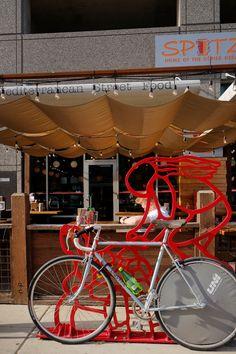 Art bike racks in Salt Lake City.