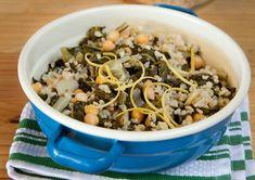 תבשיל אורז מלא, מנגולד וחומוס בלימון (צילום: יעל אילן, סגנון: נעמה רן)