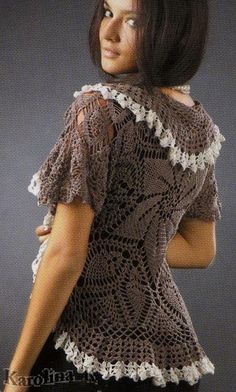 Circular bolero jacket or vest!  My circular shrug & bolero in the nee book are formed in / the exact same way as this.