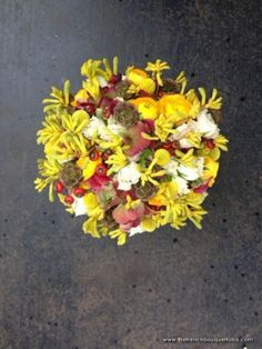 Yellow Kangaroo Paw in a Bridal Bouquet