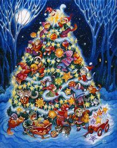 Christmas Cats via MuralsYourWay.com