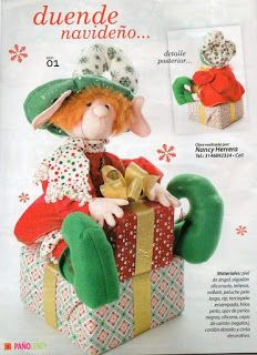REVISTA PAÑO LENCY FIELTRO NAVIDAD 241 Maya, Lily, Teddy Bear, Christmas Ornaments, Holiday Decor, Party, Corner, Home Decor, Baby Dolls