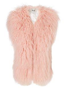 Pink Mongolian Lambskin Gilet | Dlux | Avenue32