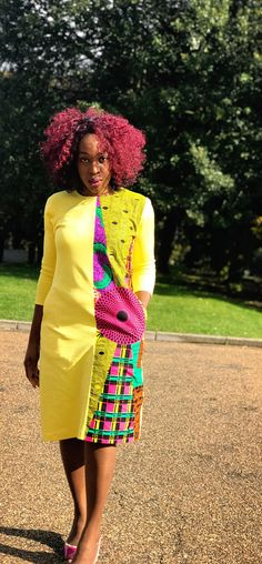 Introducing a milder way to infuse our beautiful African Ankara Print into your everyday attire. This elegantly designed shift dress will definitely make you stand out. Using partly polystyrene fabric and cotton to custom make this shift dress which fits loosely to your silhouette. It