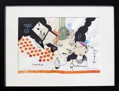 "Artist Simon Fensholm: ""Utopi"" (""Utopia""), A2,  Markers and acrylics on paper."