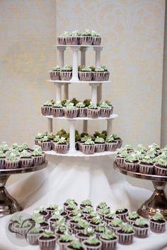 Cupcake table at Cheryl & Noel's wedding