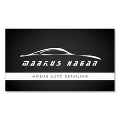 MODERN AUTO DETAILING, AUTO REPAIR BUSINESS CARD