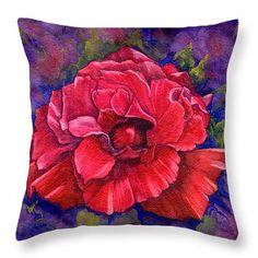 "Purple Passion Throw Pillow 14"" x 14"""