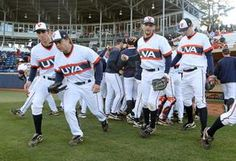 University of Virginia throwback baseball uniforms bet my hubby would have looked great in these LOL