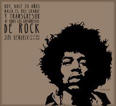 Hoy 27/11/2012 sería el 70 cumpleaños de Jimi Hendrix, el más grande y transgresor guitarrista de todos los tiempos
