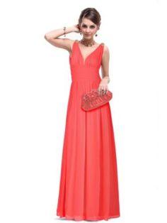 Ever Pretty Elegant V-neck Long Chiffon Crystal Maxi Evening Dress 09016:Sale:$45.99