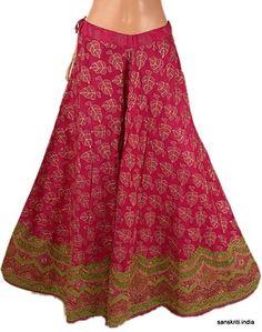 Indain Beautiful Multicolor Bootie Long Skirt Rajasthani Print ...