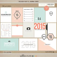 This New year ' 15 Journal Cards by Sahlin Studio at The Lilypad