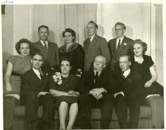 Hansen Family My mother, her brothers and siters and Mother and Father
