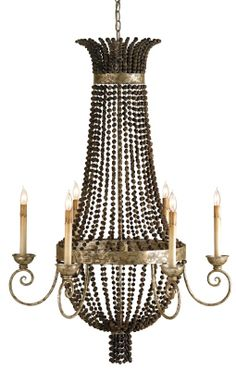 Buri nut Currey and Co. chandelier
