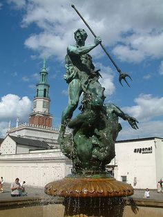 Poseidon (Roman Neptune)  in Poznań, Poland. - Greek mythology - god of the sea