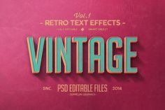 Vintage Text Effects Vol.1 by Zeppelin Graphics on @creativemarket