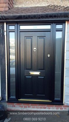 Privacy is key! Design, price and order your perfect door online instantly! Timber Composite Doors are the UKs Solidor Supplier and installer! All Doors come with Finance available Black Composite Front Door, Black Front Doors, Doors Online, Traditional Doors, French Grey, Duck Egg Blue, Door Design, Composition, Finance