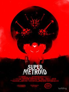 Super Metroid poster by iwilding.