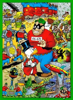 Poster 7 - $crooge McDuck and the Beagle Boys. Ideal print dimensions 19 in x 27 in or less.