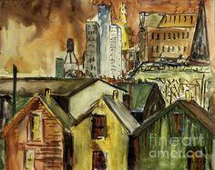 Indianapolis Skyline c. 1962 by Lynn Palmer-MC