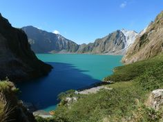 This was a mountain top as of early june 1991. The eruption blew off the entire mountain top. Mount Pinatubo, Zambales, Philippines.