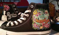 641d112b Panic at the Disco Shoes Custom design Hand Brush Painted Converse Pretty  Odd Panic! Vans Keds T