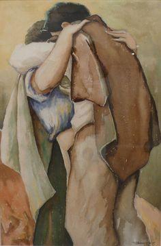 El beso. Horacio Longas. 1951