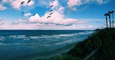 Ocean waves break on shore Cardiff-by-the-Sea #EpicSummerRun