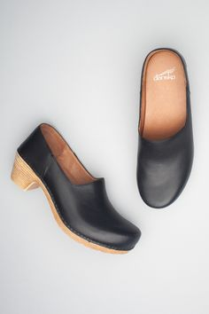 The Dansko Black Full Grain from the Marisol collection.
