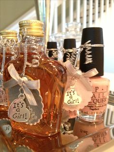 couples baby showerhis and hers party favors whisky for the men, Baby shower invitation