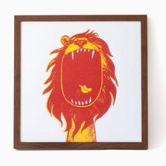 rikiki Löwe Siebdruck
