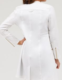 Modern Scrubs and Lab Coats for Men and Women by Jaanuu Dr Coats, White Lab Coat, White Coats, Doctor Coat, Medical Uniforms, Healthcare Uniforms, Scrubs Outfit, Blazers, Nursing Clothes