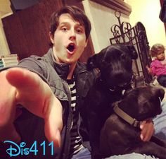 Shane Harper adopted 2 new puppies on Saturday (Frebruary Isn't this photo so nice that Miss Bridgit Mendler posted of Shane and his 2 new Hottest Guy Ever, Hottest Guys, Old Disney Channel, Shane Harper, Bridgit Mendler, Hollywood Couples, Famous Men, New Puppy, Celebrity Crush