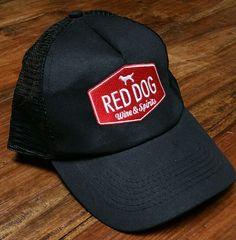 794653ef Red Dog Wine & Spirits black Snapback Cap Hat trucker fishing golf  embroidered #HitWear