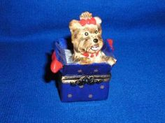 Limoges - Yorkie in a Box