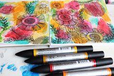 alisaburke: watercolor markers