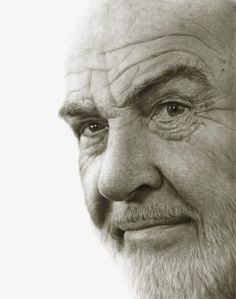 """Sir Sean Connery"" - pencil drawing by Randy-man (Randy Owen), via deviantART"