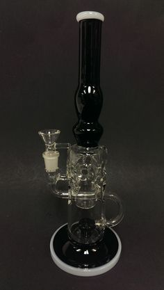 "XTI001 - Black 11.5"" Glass Oil Rig"