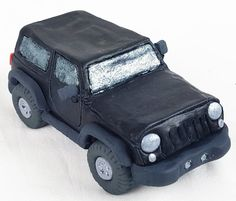 Edible Jeep fondant cake topper. Edible figurine of a car or truck. by 101cakes on Etsy